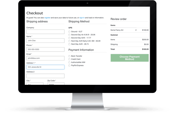 paGO Commerce - Single-Page Checkout